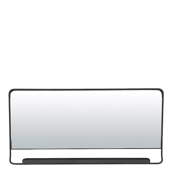 Chic Spegel med hylla Svart 80x40 cm