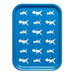 Bricka Blå repeterande 27x20 cm