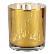 Rumours Ljuslykta Löv Grön/Silver 8 cm