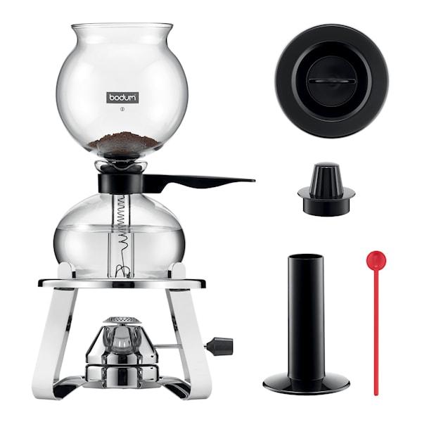 Pebo Set Kaffebryggare 8 koppar + Brännare + Tillbehör