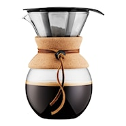 Pour Over Brygger 1 L/8 kopper filter/kork