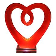 Glasskulptur Hjärta Glas Röd 20 cm