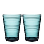 Aino Aalto Glas 33 cl Havsblå 2-pack
