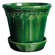 Köpenhavner Kruka/fat Grön emerald 16 cm