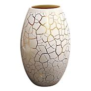 Croco Vas Vit/Guld 26x16 cm