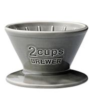 Slow Coffee Filterholder 2 Kopper porselen