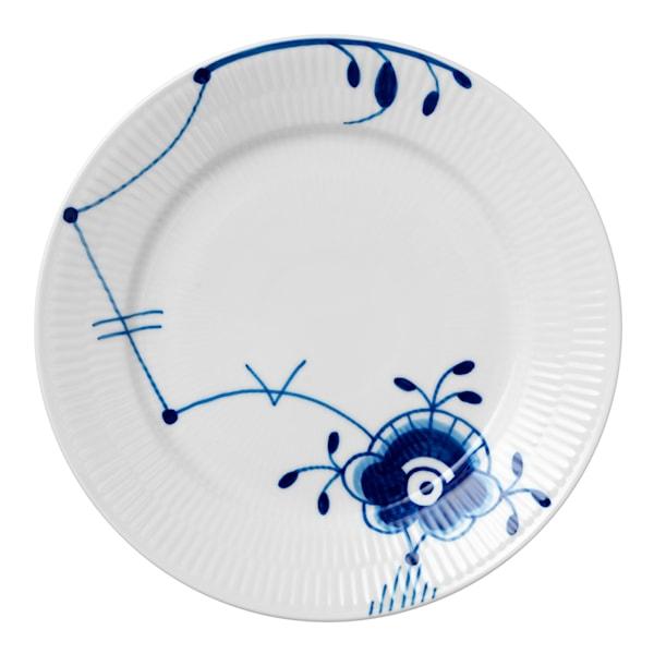 Blue Fluted Mega Tallrik flat 22 cm dekor 6