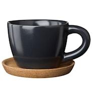 Espressokopp med träfat 10 cl Grafitgrå
