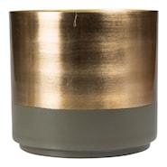 Aria Kruka 18x8 cm Grön/guld