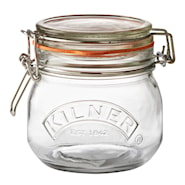 Oppbevaringsglass Clip Top 0,5 L hengslet lokk