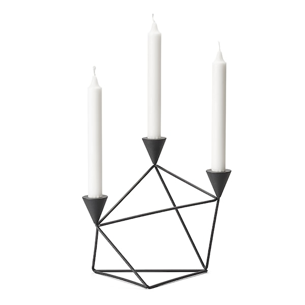 Pythagoras Ljusstake Svart