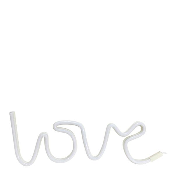 Vegglampe love led Hvit