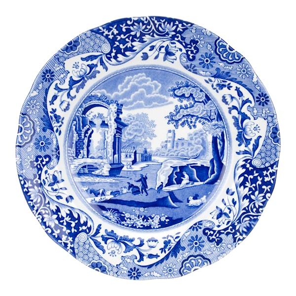 Blue Italian Tallrik flat 23 cm