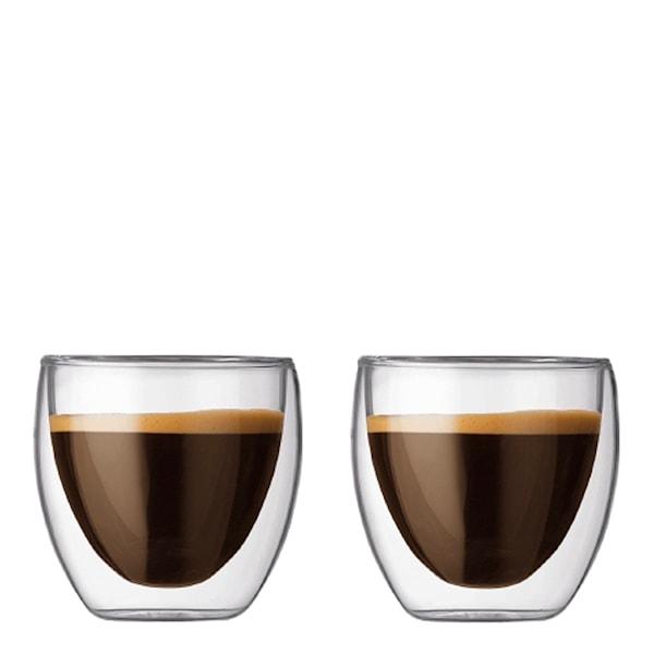 Pavina Kaffeglas dubbelväggad 25 cl 2-pack