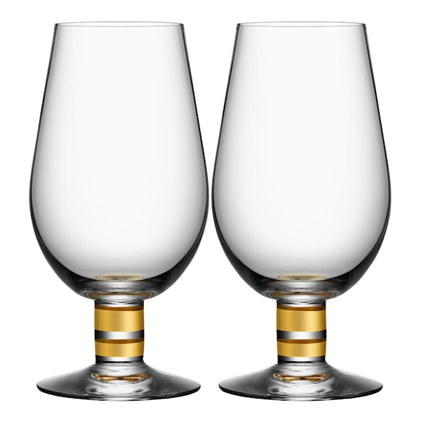 Morberg Exclusive Ölglas guld 63 cl 2-pack