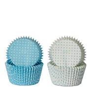 Form blå miniprickar 50-pack