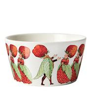 Elsa Beskow Skål 50 cl Jordbærfamilien