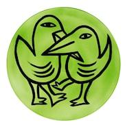 Final Peace Fat Fåglar Grön 38,5 cm