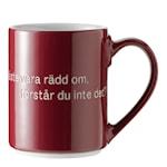 Astrid Lindgren Mugg Vinröd Livet är en sak