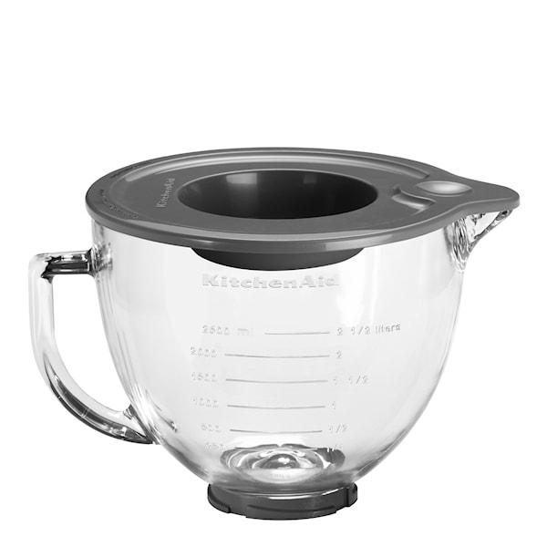 Glasskål till köksmaskin