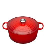 Signature Støpejernsgryte rund 28 cm 6,7 L Rødt