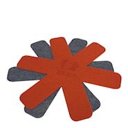 Stekepannebeskyttelse 2-pakning Rød/Grå