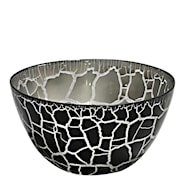 Croco Skål Svart/Silver 9x17 cm