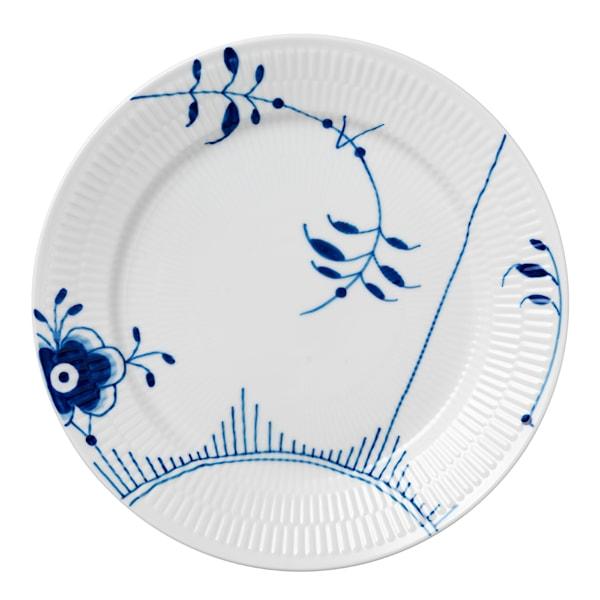 Blue Fluted Mega Tallrik flat 27 cm dekor 2