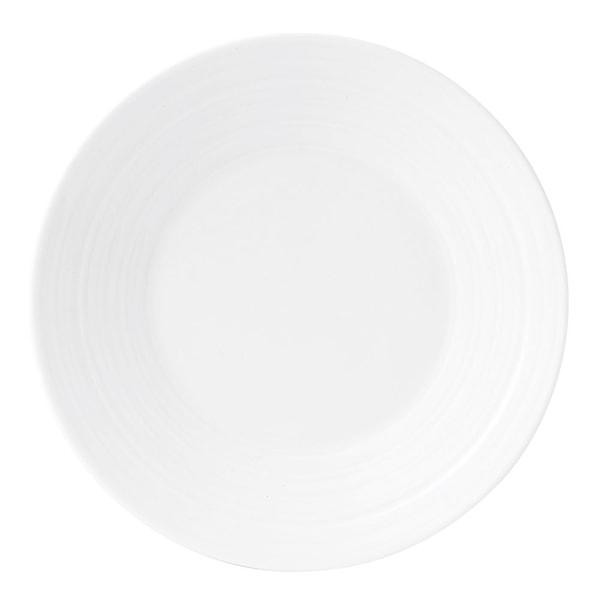 Jasper Conran Strata White Tallrik flat 18 cm