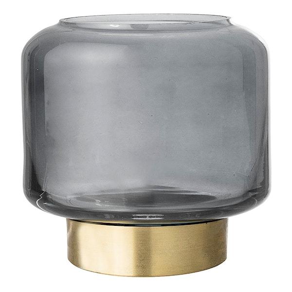 Ljuslykta Grå Glas 8 cm