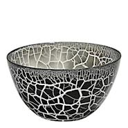 Croco Skål Svart/Silver 11,5x21 cm