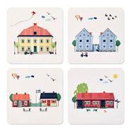 Houses of Sweden Glasunderlägg 4-pack