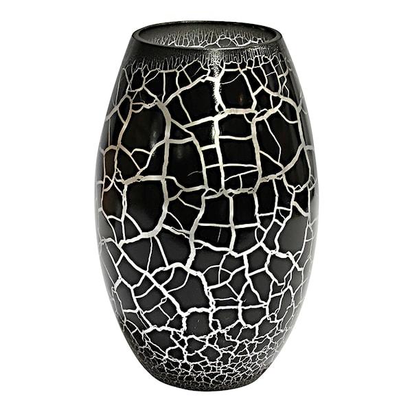 Croco Vas Svart/Silver 26x16 cm