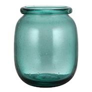 Celebration Vas Rullkant Glas Grön 19 cm