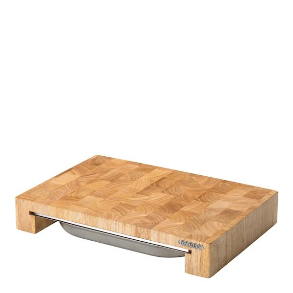 Skärbräda med låda 39x27x6 cm