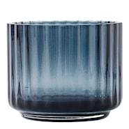Lyngby Ljuslykta liten glas Blå