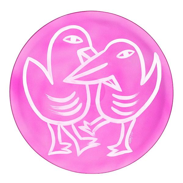 Final Peace Fat Fåglar Rosa 38,5 cm