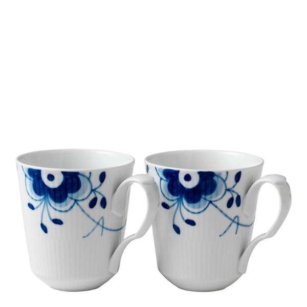 Blue Fluted Mega Mugg 37 cl 2-pack