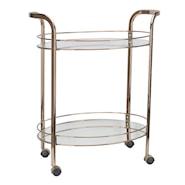 Christine Serveringsvagn rund Metall/Glas