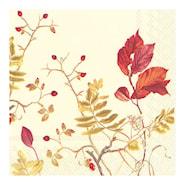 Servett Höstväxter 33x33 cm