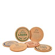 Glasunderlägg Öl 6-pack
