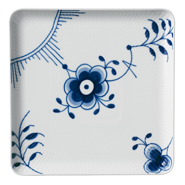 Blue Fluted Mega Tallrik 20x20 cm