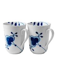 Blue Fluted Mega Mugg 33 cl 2-pack