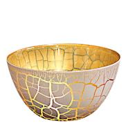 Croco Skål Vit/Guld 9x17 cm