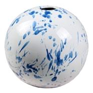 Stänk Vas boll 19x17 cm Vit/Blå