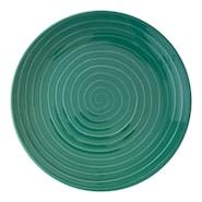 Blond Tallrik flat 22 cm stripe Grön