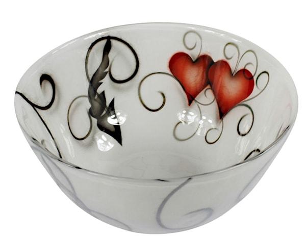 Crystal Ink Skål 25 cm heart