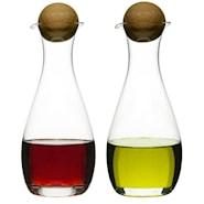 Nature Olja/vinägerflaska ekkork 2-pack