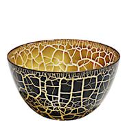Croco Skål Svart/Guld 11,5x21 cm
