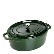 Gryte 6,7 L oval Grønn